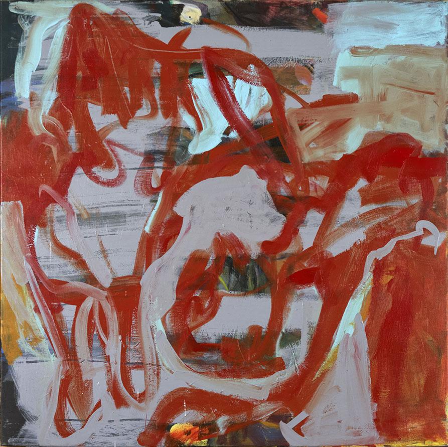 """Galleri-Haag-1201. """"Uden titel"""" - Acryl maling på lærred. - 100,5 x 100,5 cm."""