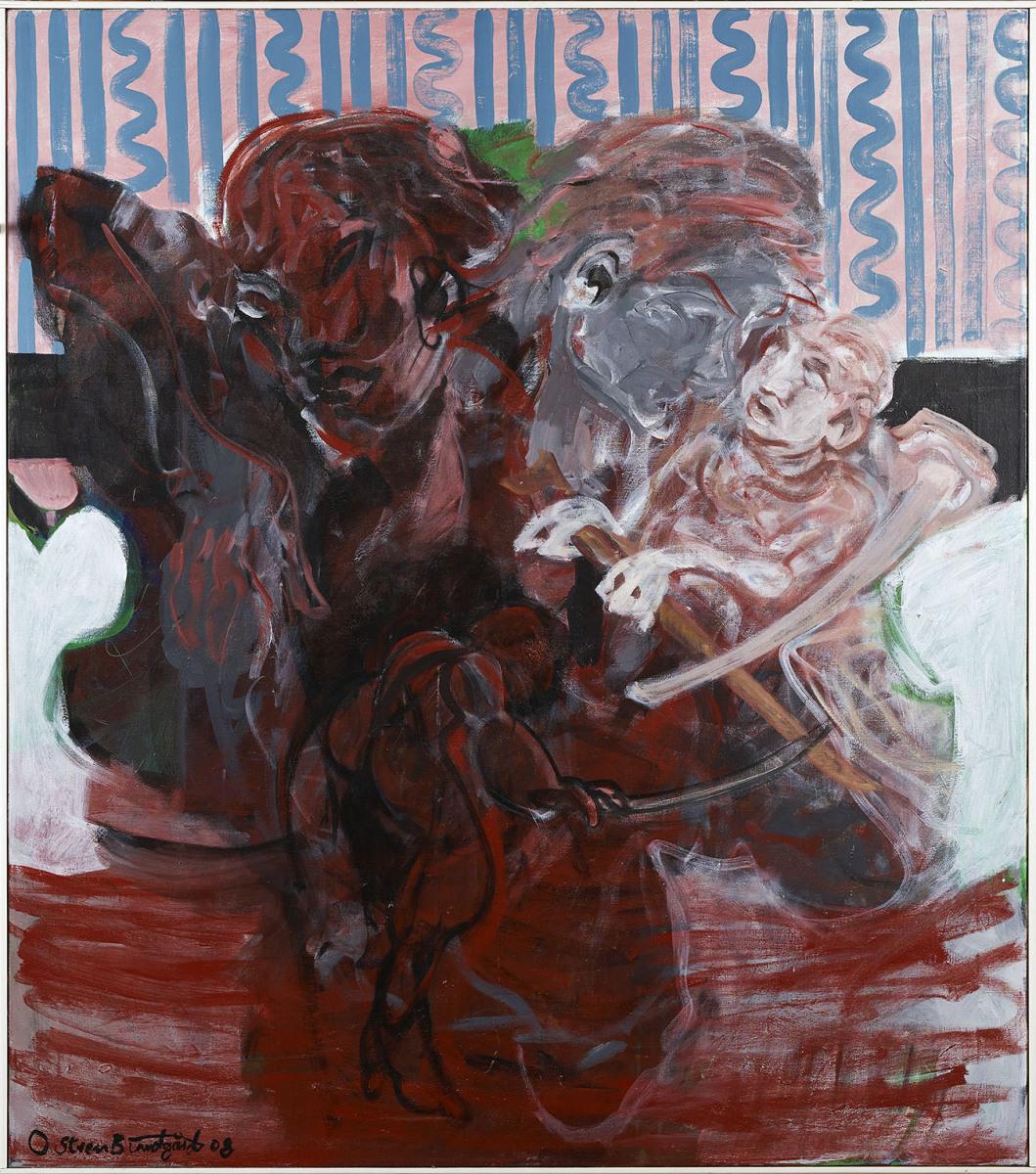 """Haag-Galleri-103-""""Familie"""" Acryl på lærred. 115X130 cm."""