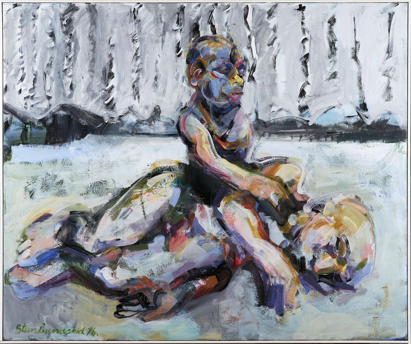 """Haag-Galleri-104- """"Sleep"""" Acryl på lærred. 115X130 cm."""