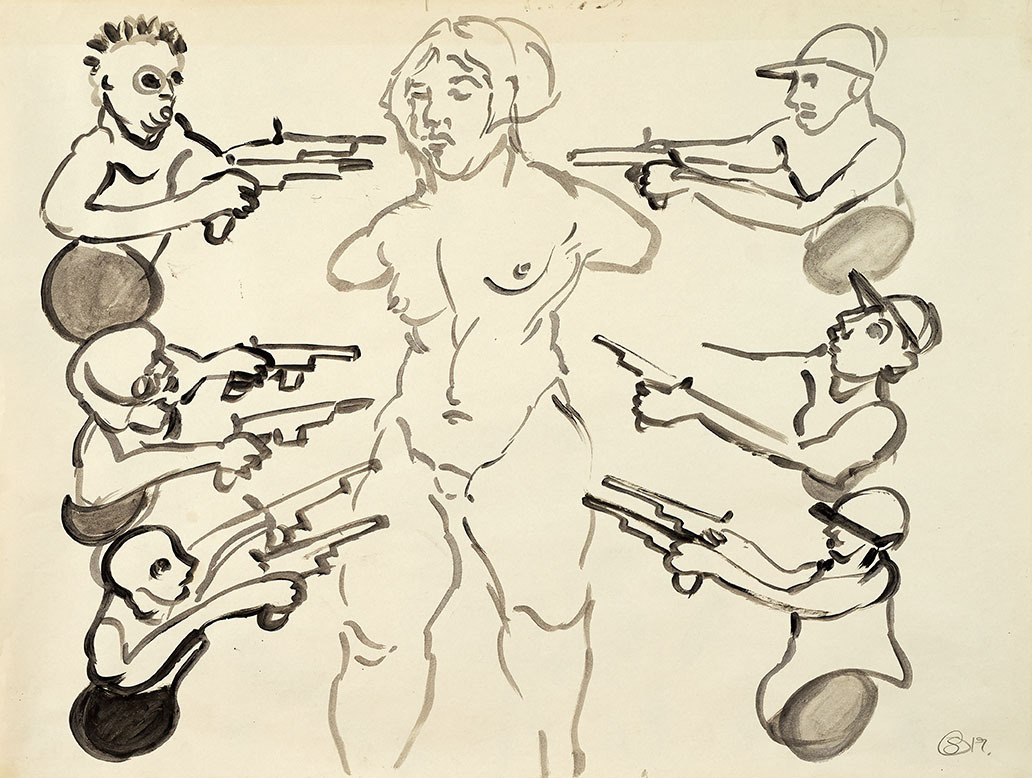 "Galleri-Haag-1211. "" Metoo"" - 84,5 x 64 cm."