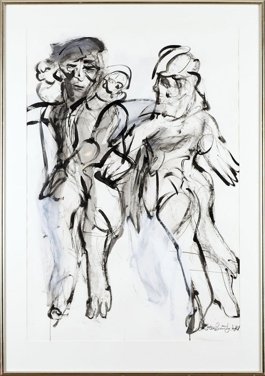 "Haag-Galleri-115 ""Tyven 3"" Acryl og grafit på syrefrit papir. 125 x 88 cm."